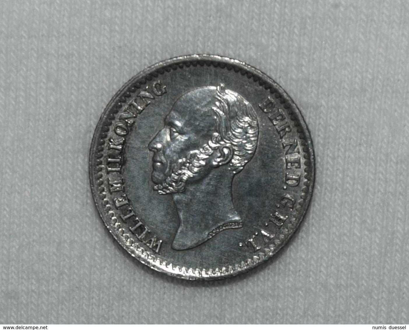 Silber/Silver Niederlande/Netherlands Willem II, 1849, 10 Cents PFR/MS - [ 3] 1815-… : Kingdom Of The Netherlands