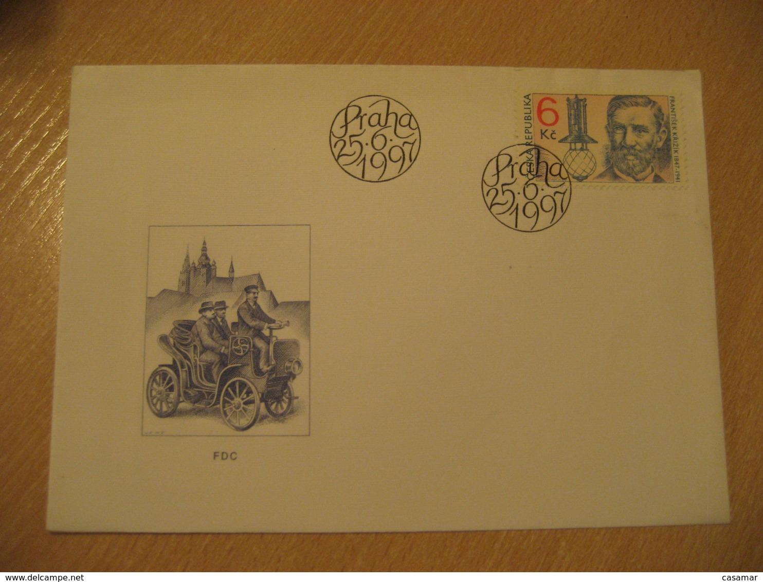 PRAGUE 1997 Krizik Auto Car FDC Cancel Cover CZECH Republic - Lettres & Documents