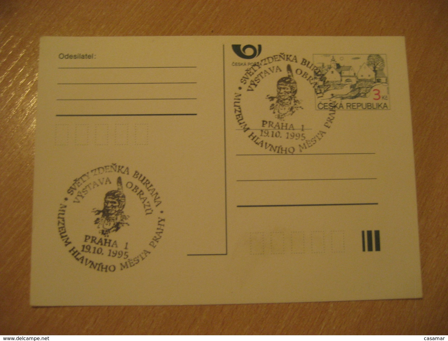 PRAGUE 1995 Museum Cancel Postal Stationery Card CZECH Republic - Lettres & Documents
