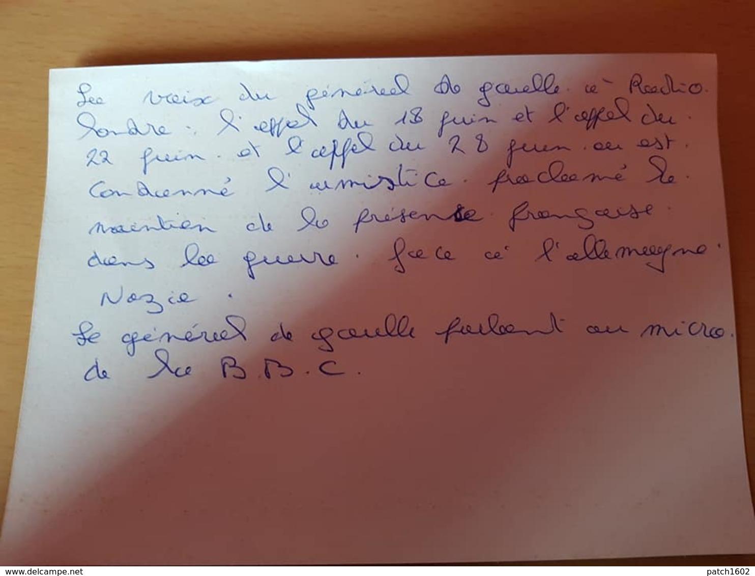 Philippe Henriot Prononçant Un Discours LE GAMMA Insigne De La Milice Photo 25cm/19cm - 1939-45