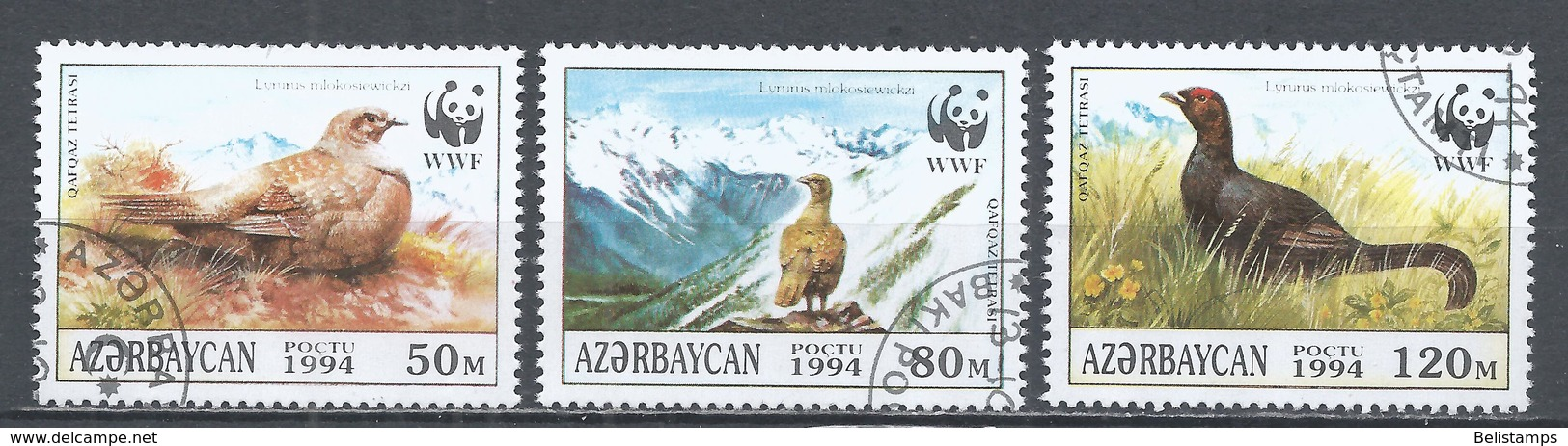 Azerbaijan 1994. Lot #1 (U) W.W.F. Birds * - Azerbaïjan