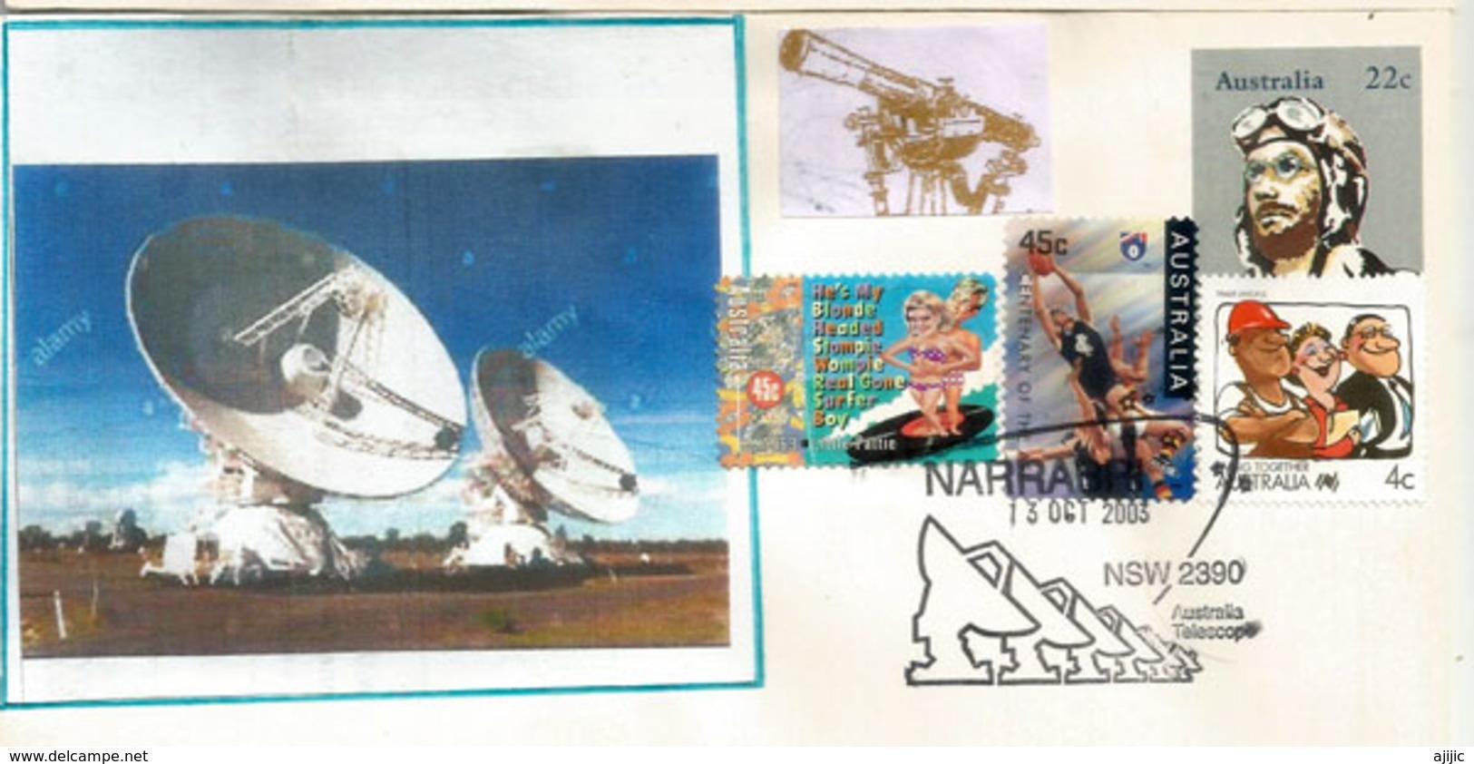 Astronomie Et Astrophysique.  Narrabri Australian Radio Telescope. NSW. , Letter 2003 - Covers & Documents