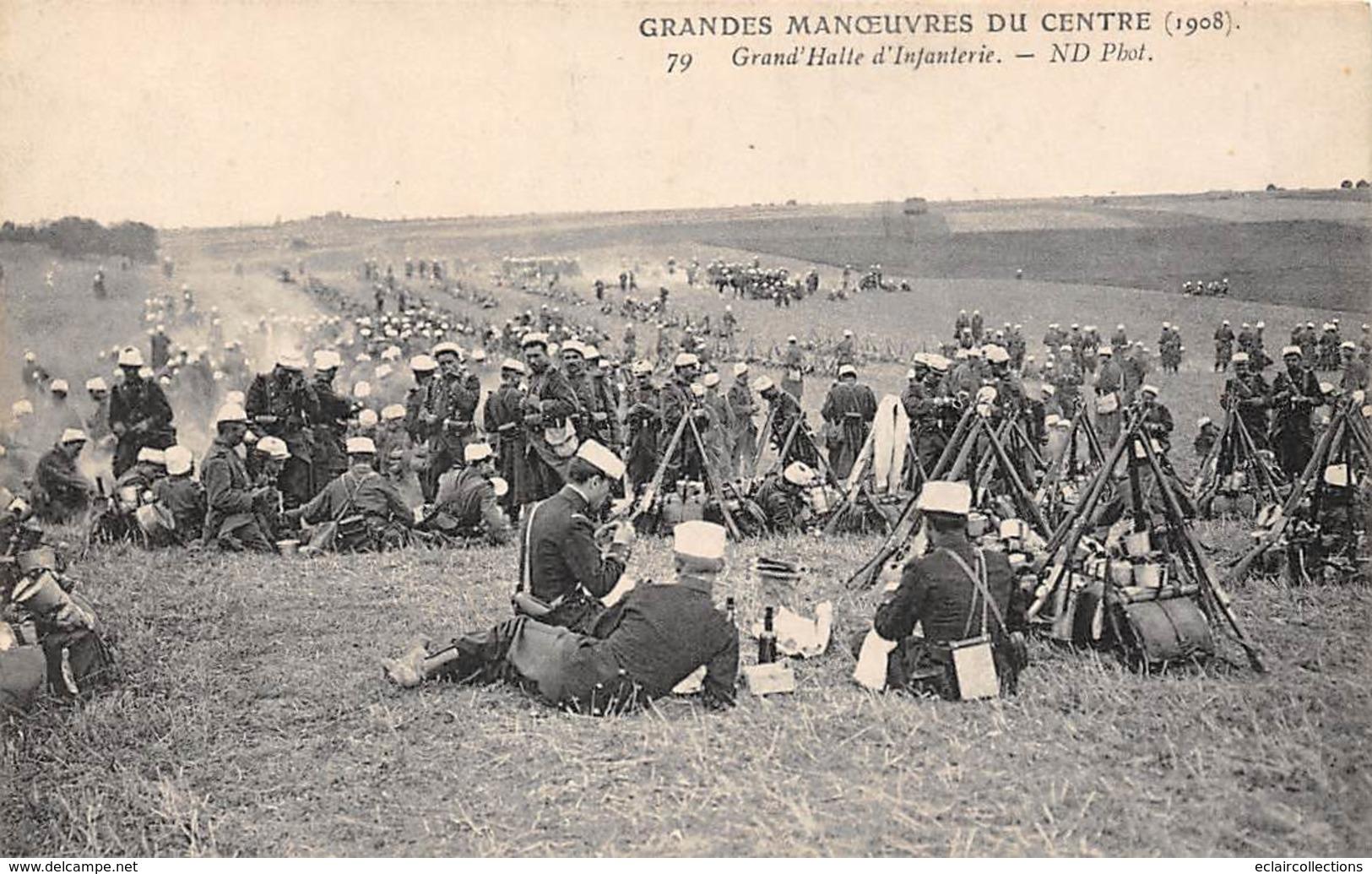 Alentours D'Ecuillé Et Valençay 36  Grandes Manœuvres Du Centre 1908   Halte D'Infanterie 79                 (voir Scan) - Frankreich