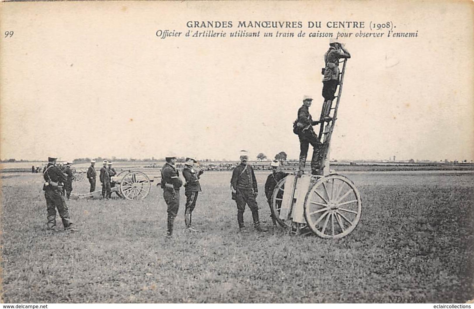 Alentours D'Ecuillé Et Valençay 36  Grandes Manœuvres Du Centre 1908  Observation De L'ennemi                (voir Scan) - Frankreich