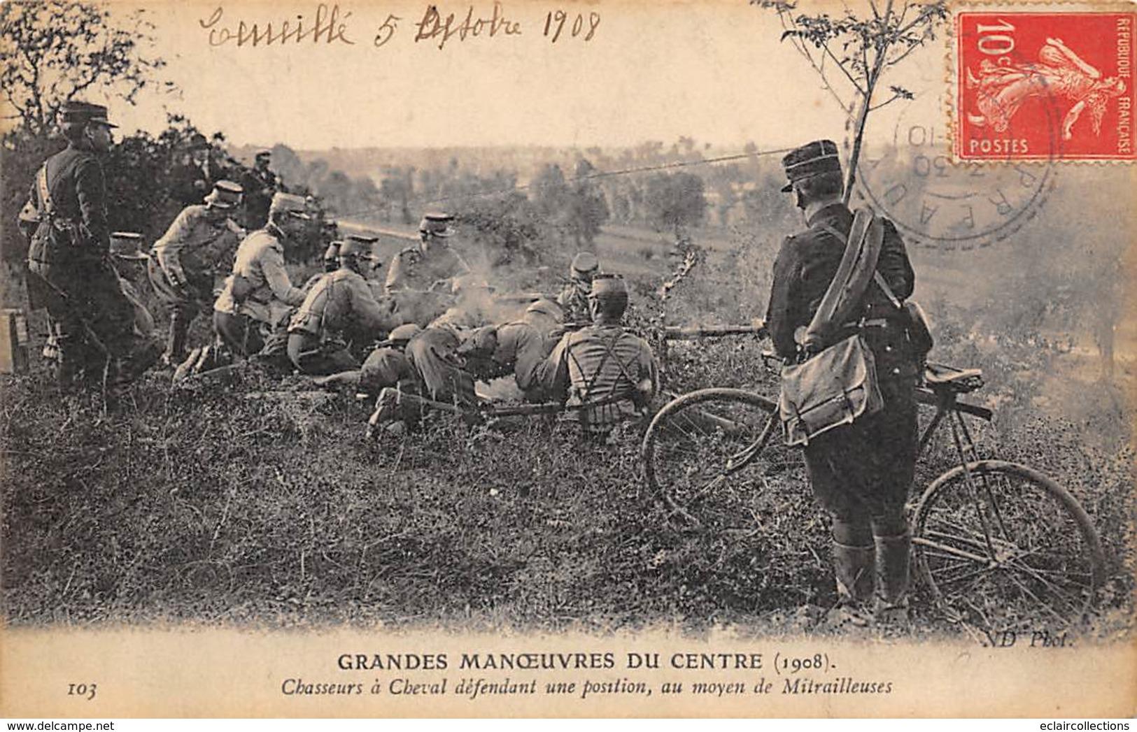 Alentours D'Ecuillé Et Valençay 36  Grandes Manœuvres Du Centre 1908  Chasseur A Cheval 103                (voir Scan) - Frankreich