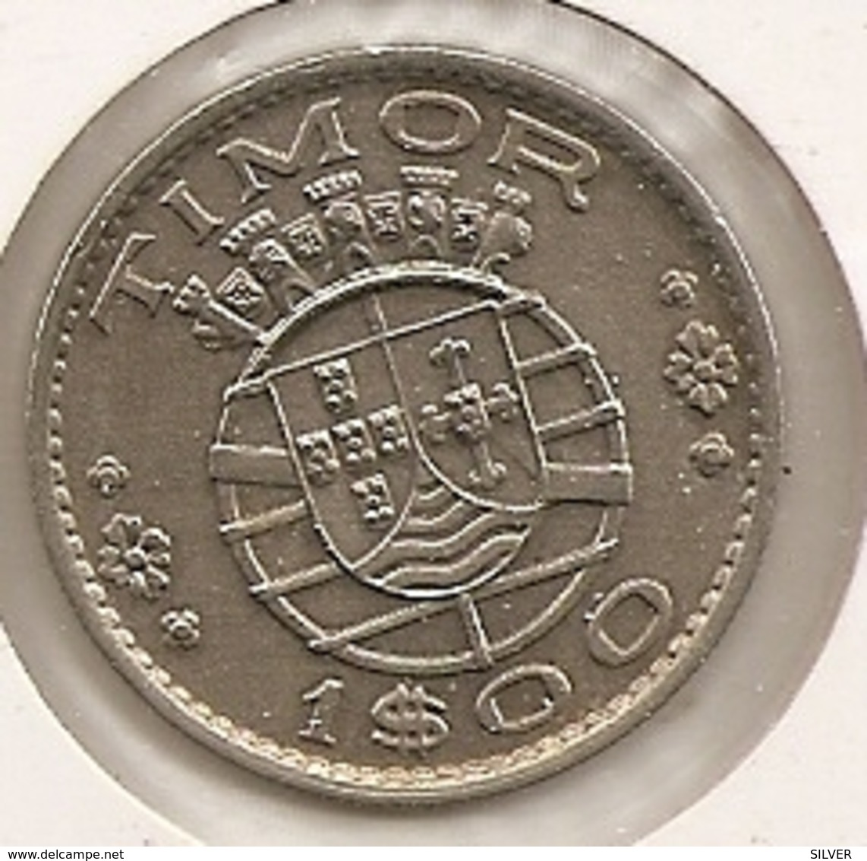 TIMOR 1 ESCUDO 1958 RARE ETAT - Timor