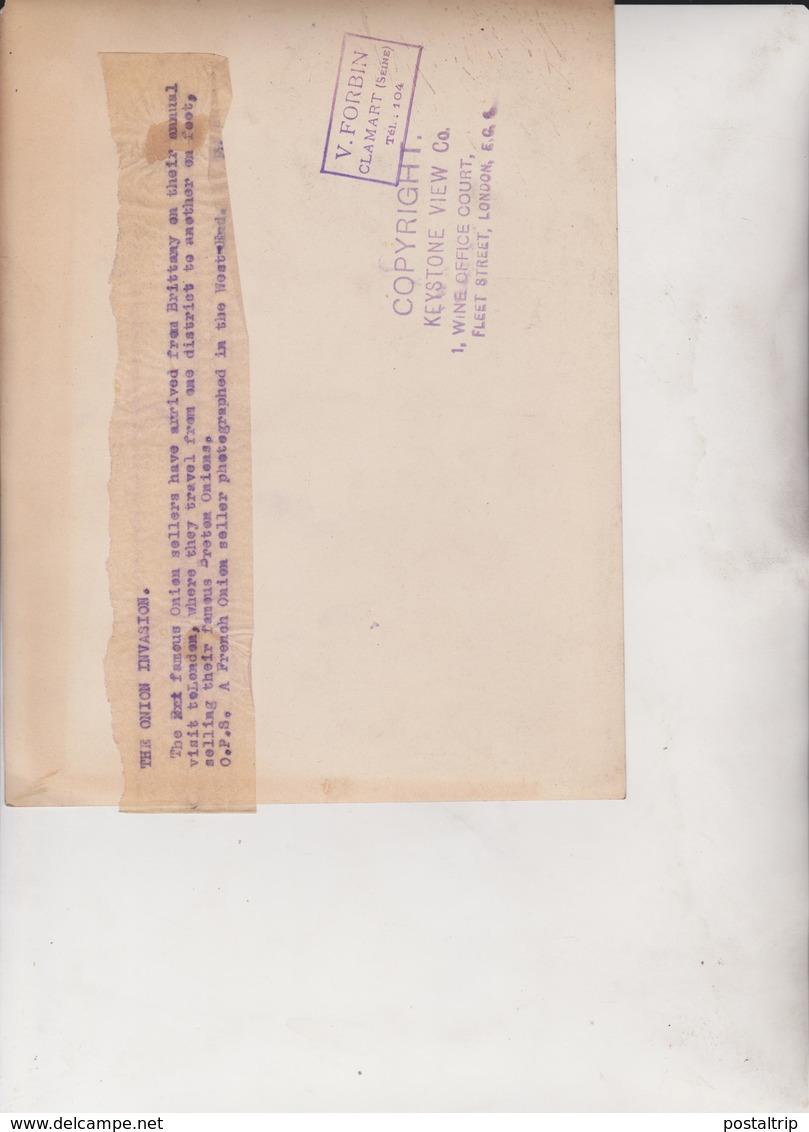THE ONION INVASION BRITTANY  TO LONDON    21*17CM Fonds Victor FORBIN 1864-1947 - Personas Identificadas
