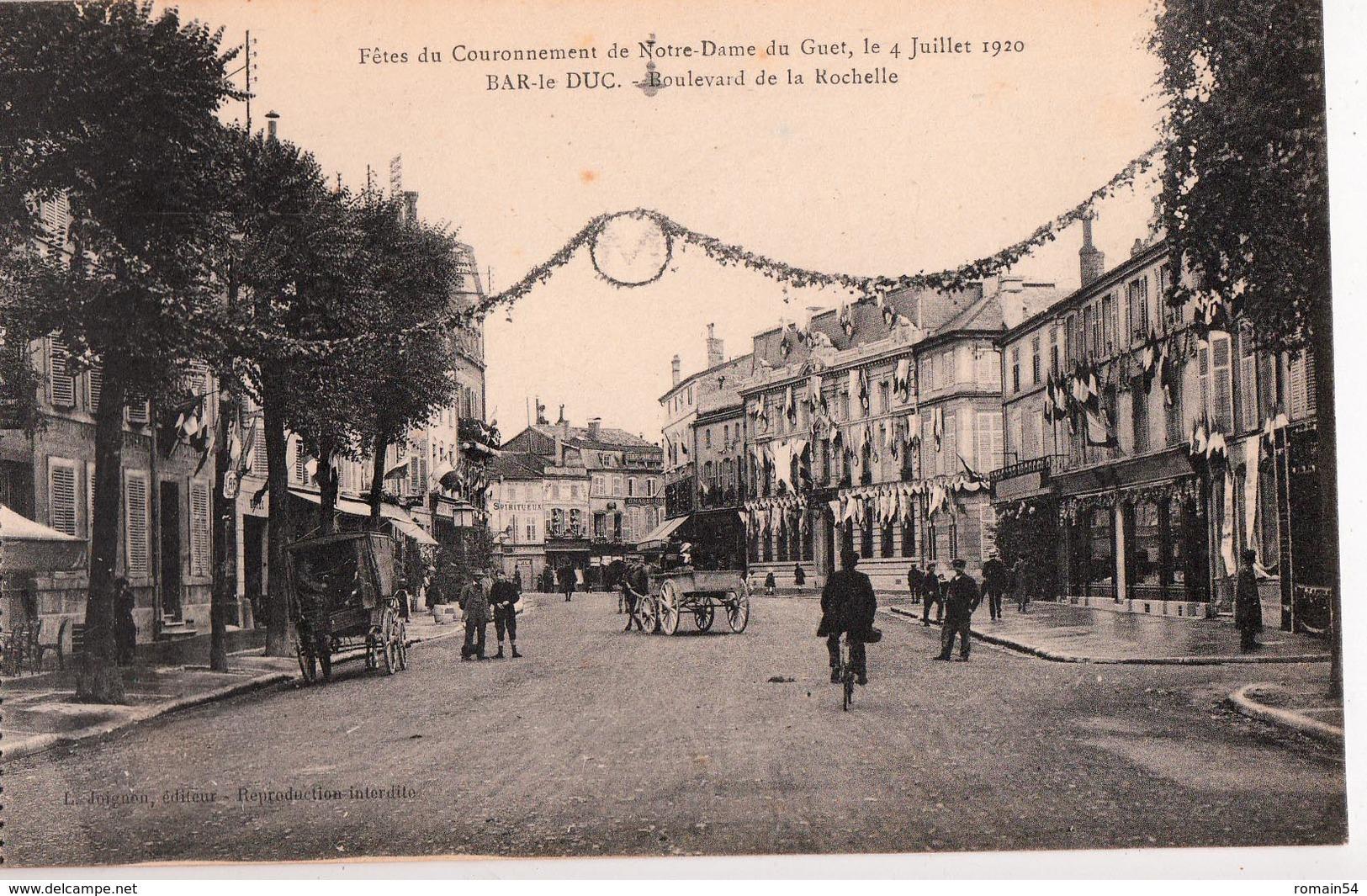 BAR LE DUC-FETES DU COURONNEMENT DE N.D. DU GUET-BOULEVARD DE LA ROCHELLE - Bar Le Duc