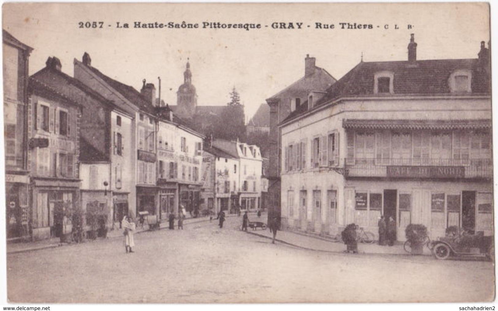 70. GRAY. Rue Thiers. 2057 - Gray