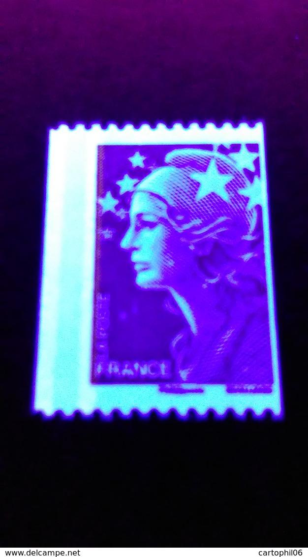 - FRANCE Variété N° 4240 - (TVP) Rouge Roulette Marianne De Beaujard 2008 - 2 BANDES DE PHOSPHORE A GAUCHE - - Abarten Und Kuriositäten