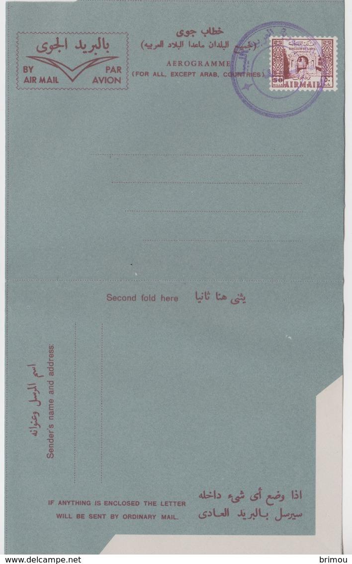 Libye, Libia, Aérogramme N 5 LSc, Type 4. - Libye