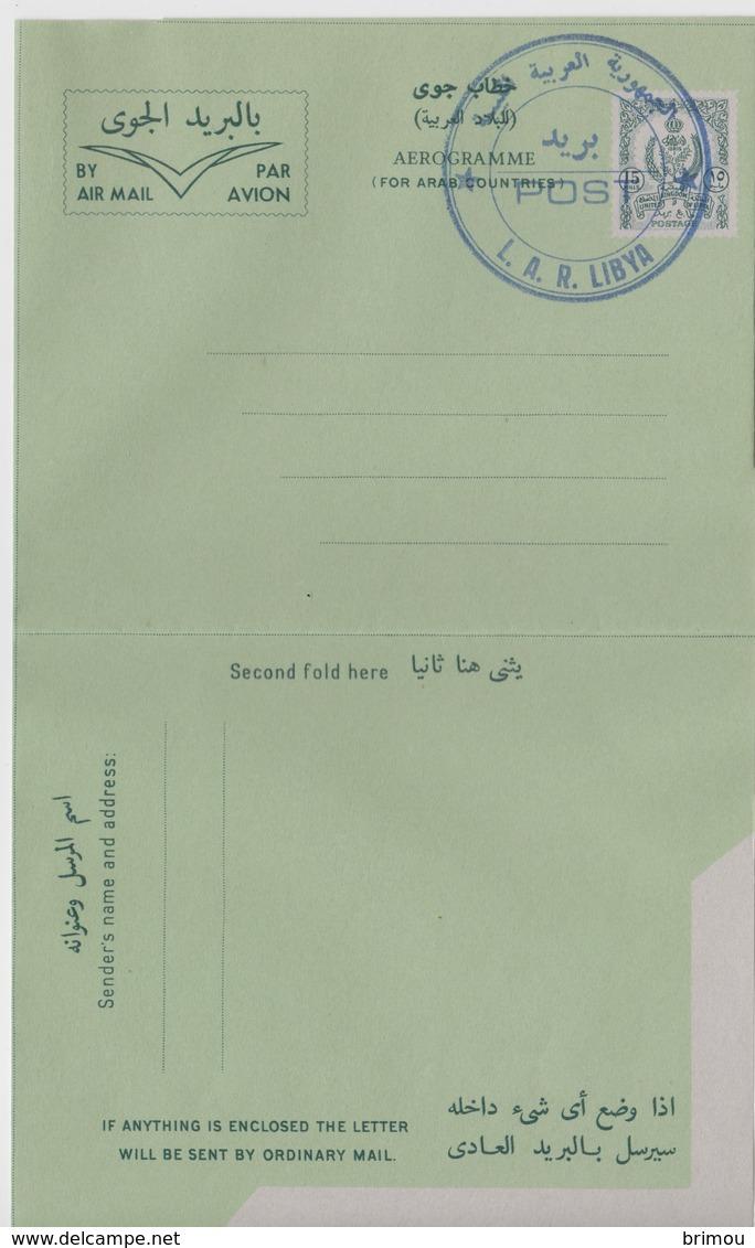 Libye, Libia, Aérogramme N 4 LS, Type 1. - Libye