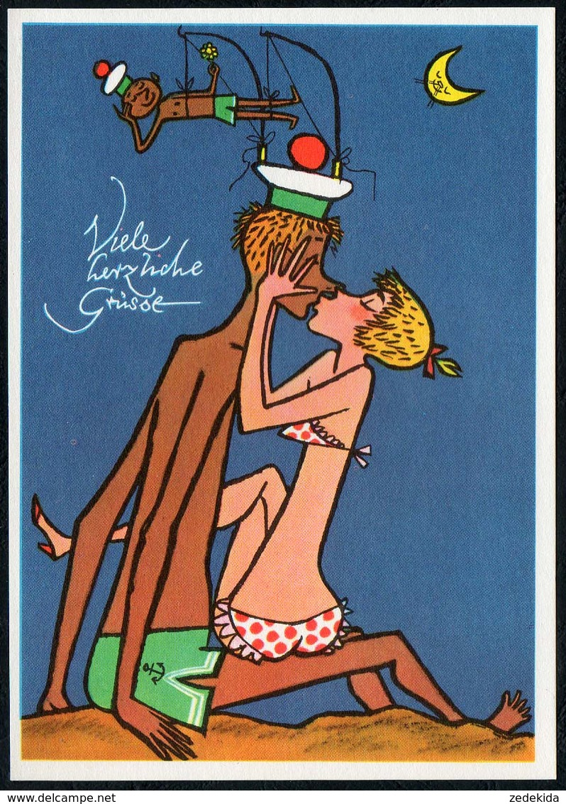 C6558 - TOP W. Klemke Künstlerkarte - Humor Scherzkarte Cartoon - DDR Grafik Matrose - Humor
