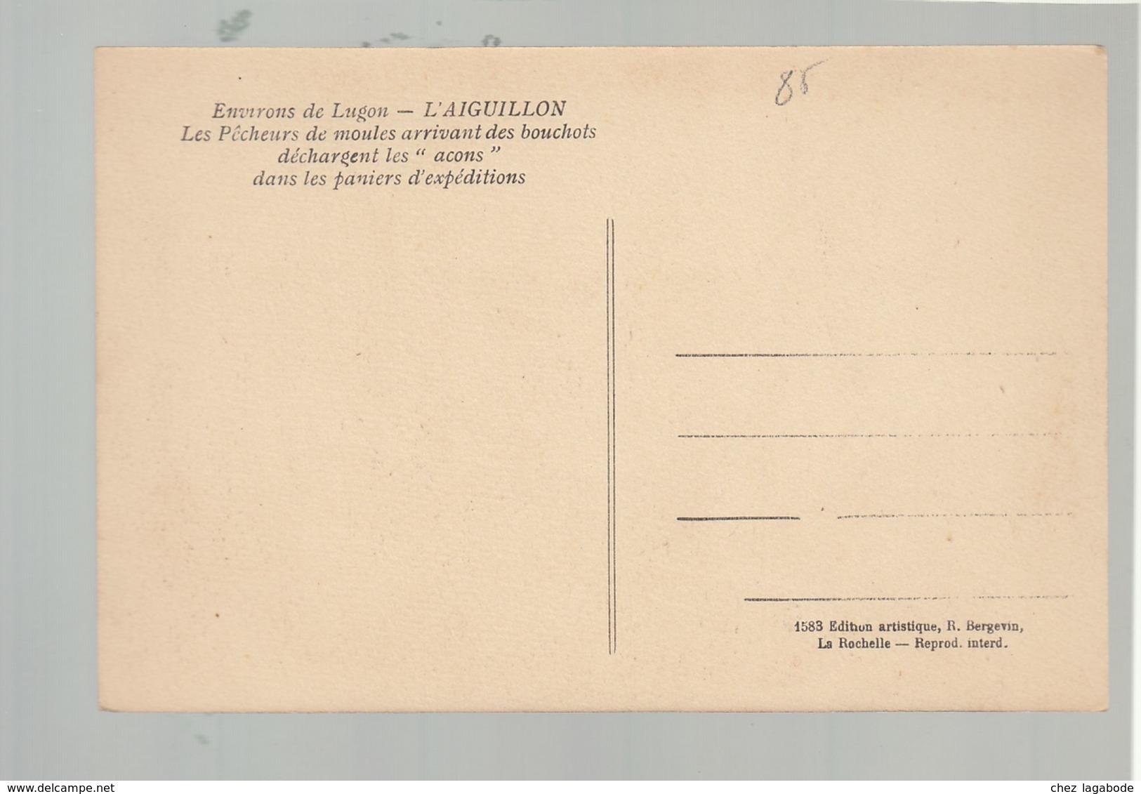 CP (85) L'Aiguillon - Pêcheurs De Moules Arrivant Des Bouchots - Other Municipalities