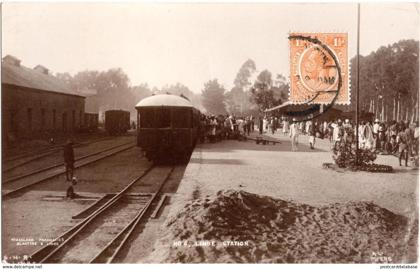 Limbe Station - Nyasaland - & Railway Station, Train - Malawi