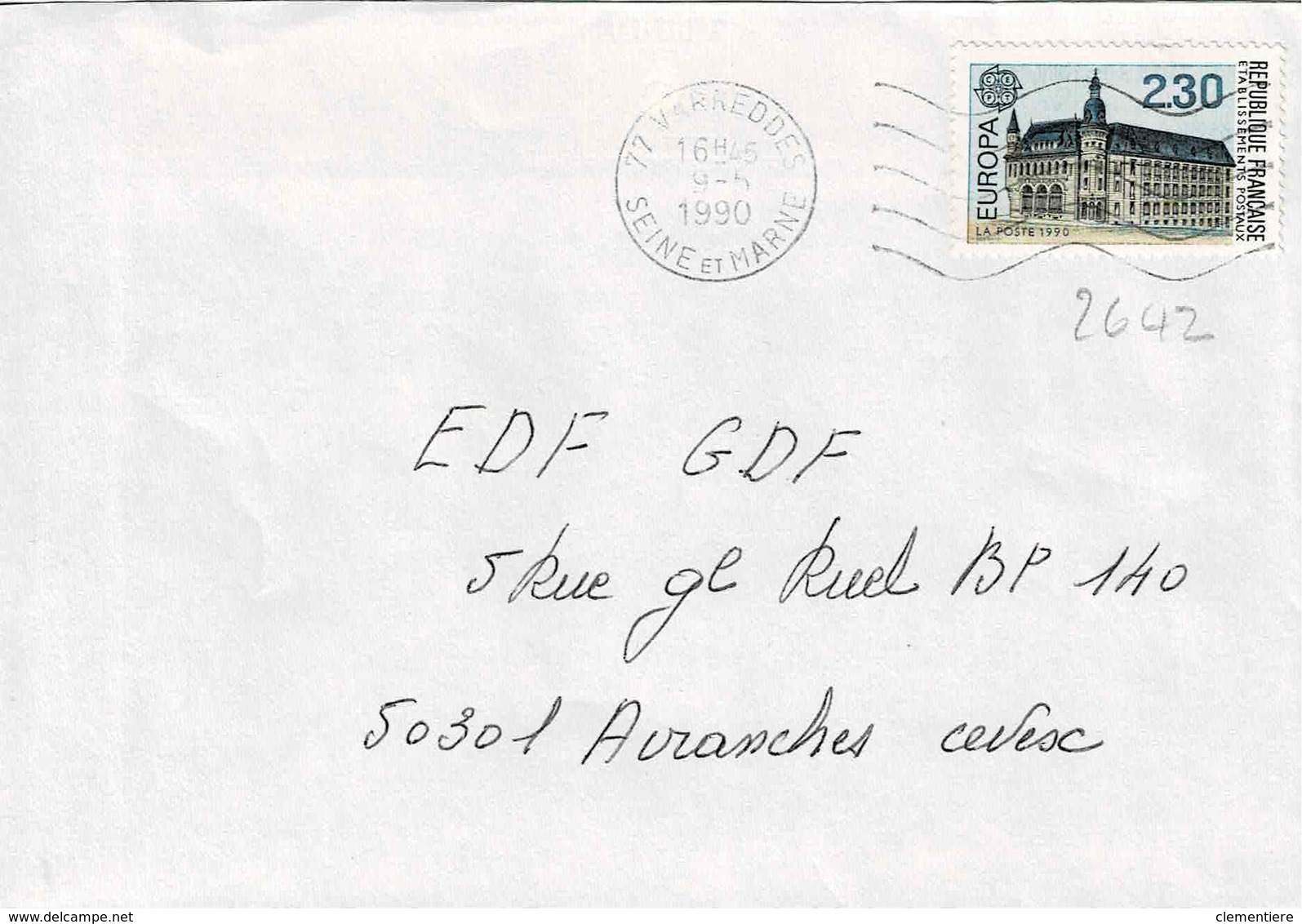 TP N ° 2642 Seul Sur Enveloppe De Varreddes - Postmark Collection (Covers)