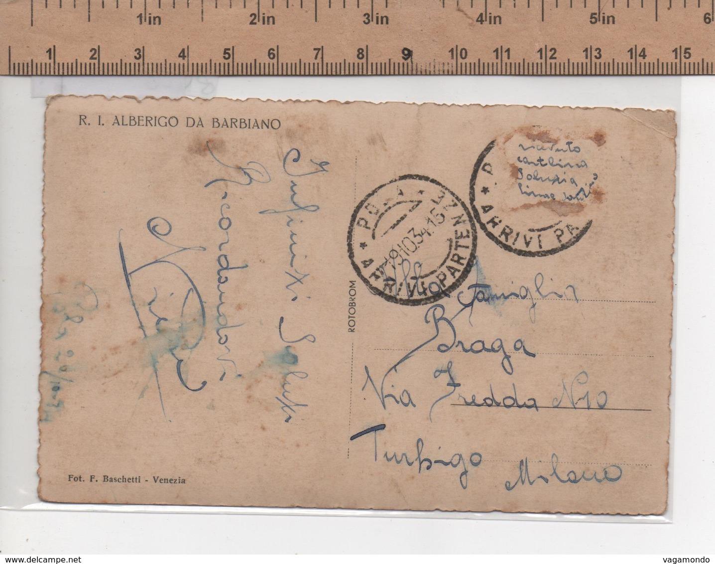 8428 R I ALBERIGO DA BARBIANO ANNO 1934 - Guerra
