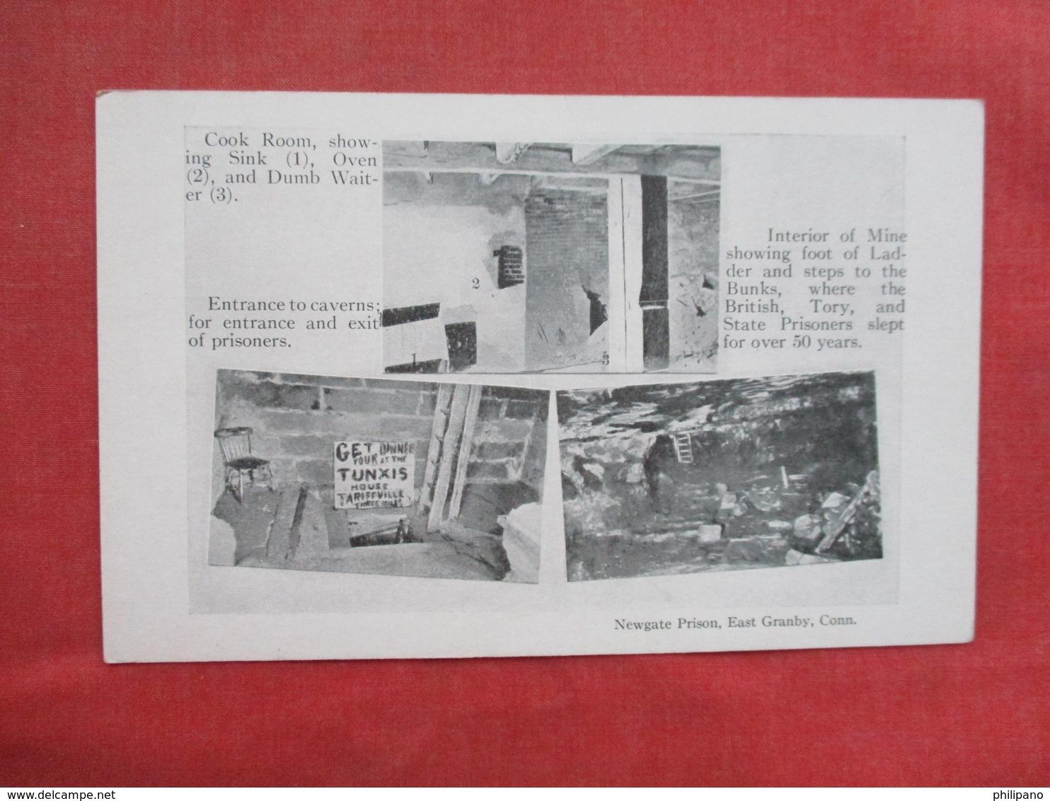 M/V ----Cook Room Entrance To Caverns  Interior Of Mine      Newgate Prison          East Granby Conn.      Ref 3430 - Prison