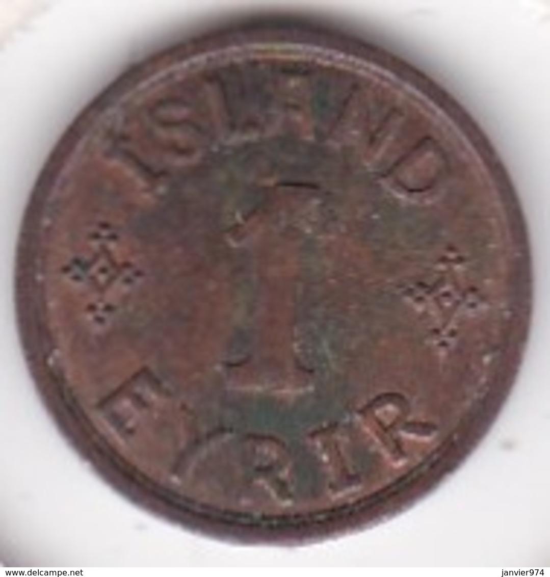 Islande 1 Eyrir 1942 Christian X . KM# 5 - Islandia