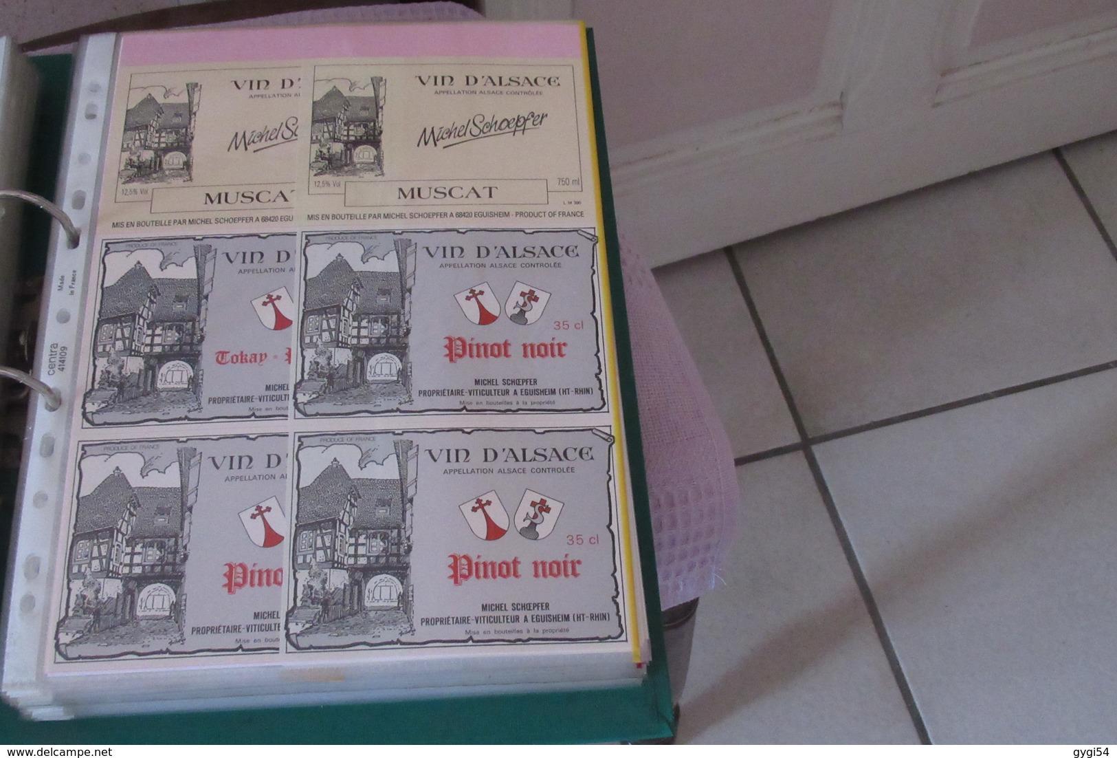 350   Etiquettes De Vins  Vins D' Alsace Rouge Et Blanc - Collections, Lots & Séries