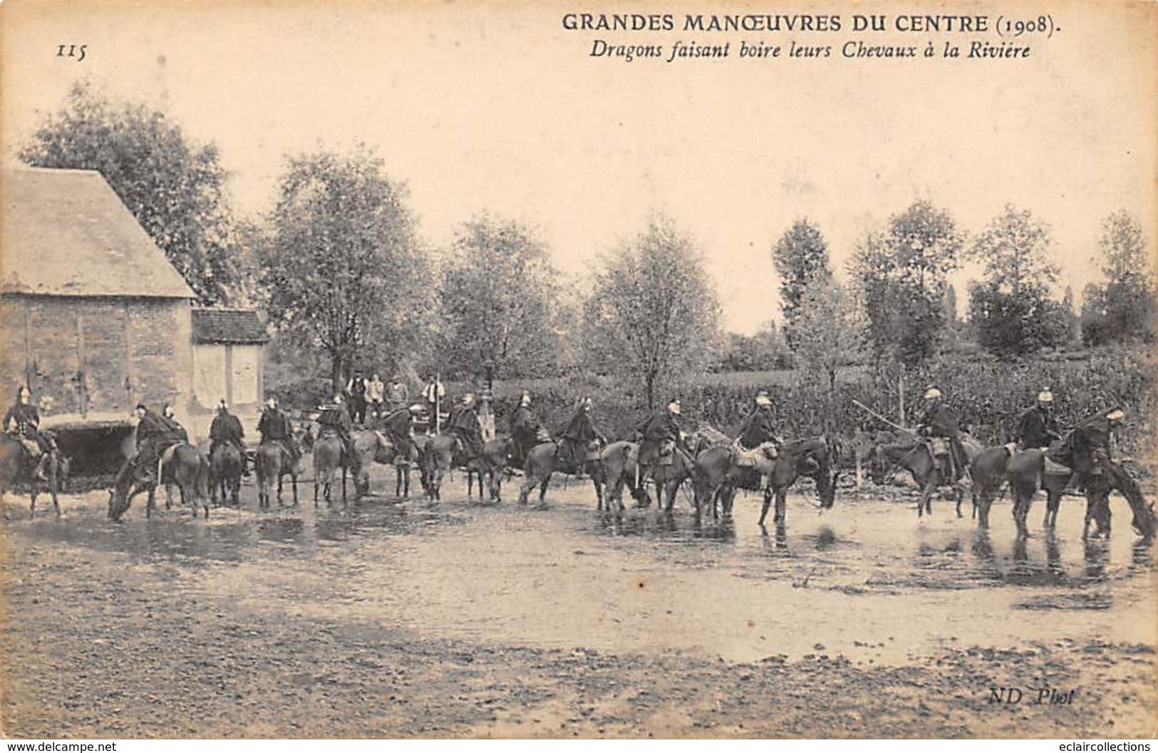 Alentours D'Ecuillé Et Valençay 36  Grandes Manœuvres Du Centre 1908  Dragons (voir Scan) - Frankreich