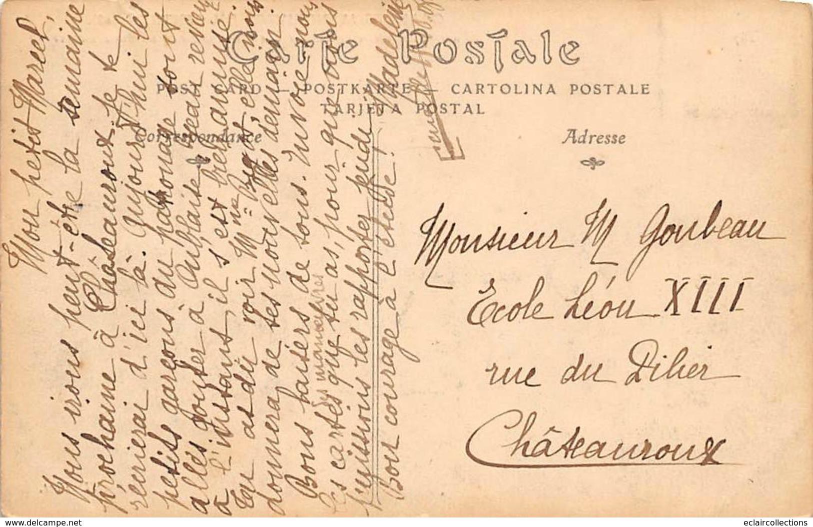 Alentours D'Ecuillé Et Valençay 36  Grandes Manœuvres Du Centre 1908  Mitrailleuse En Action  (voir Scan) - Frankreich