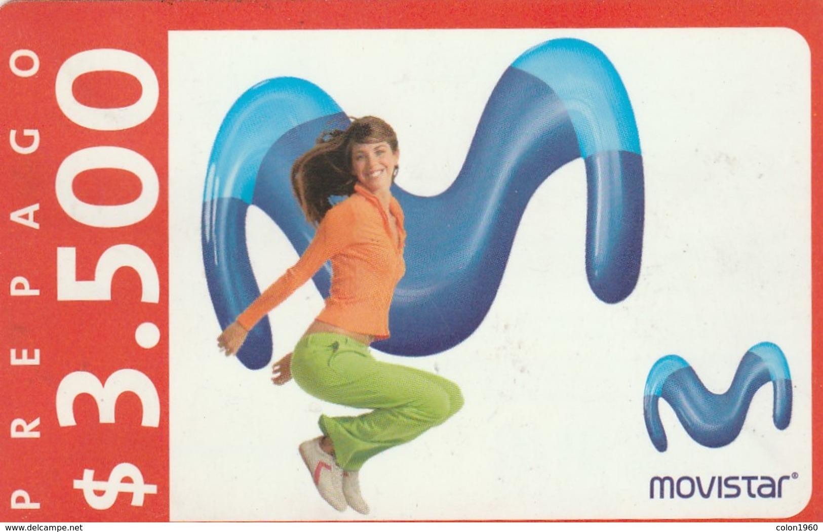 TARJETA TELEFONICA DE CHILE (PREPAGO) Recarga Movistar - Girl. 07-10-08. CL-MOV-REF-0001-09D. (303) - Chile