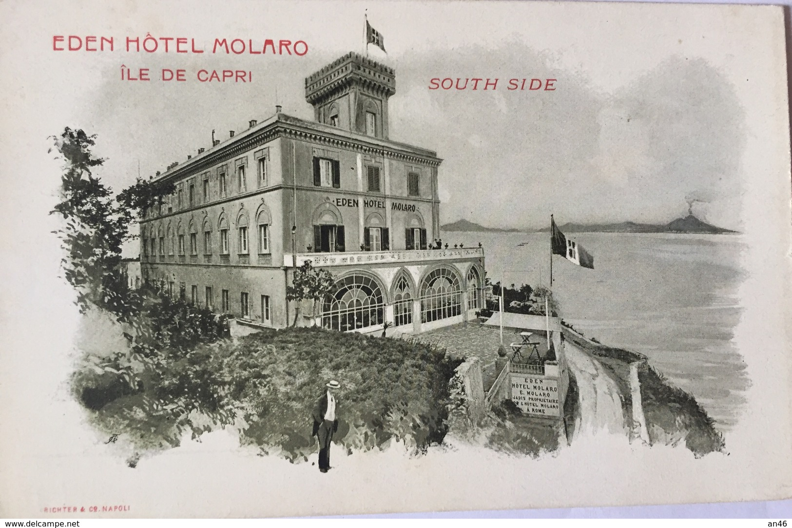 EDEN HOTEL MOLARO ILE DE CAPRI   AUTENTICA 100% - Italia