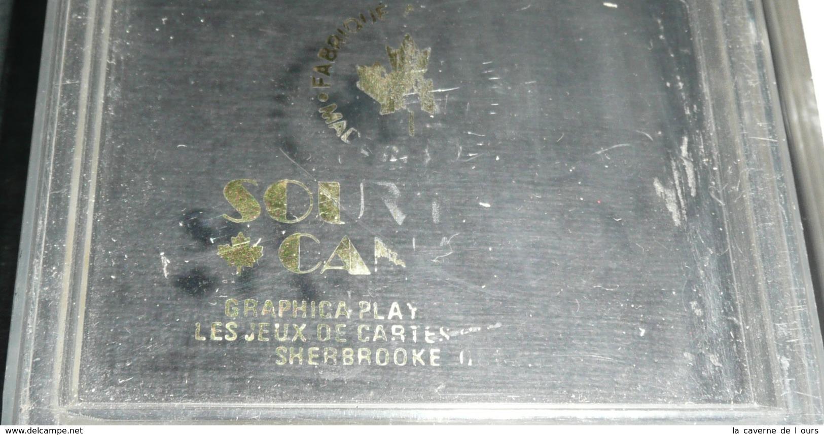 Rare Jeu De 54 Cartes Canadien, Canada, Joker Ace Of Spade, As De Pique, Drapeau - Jeux De Société