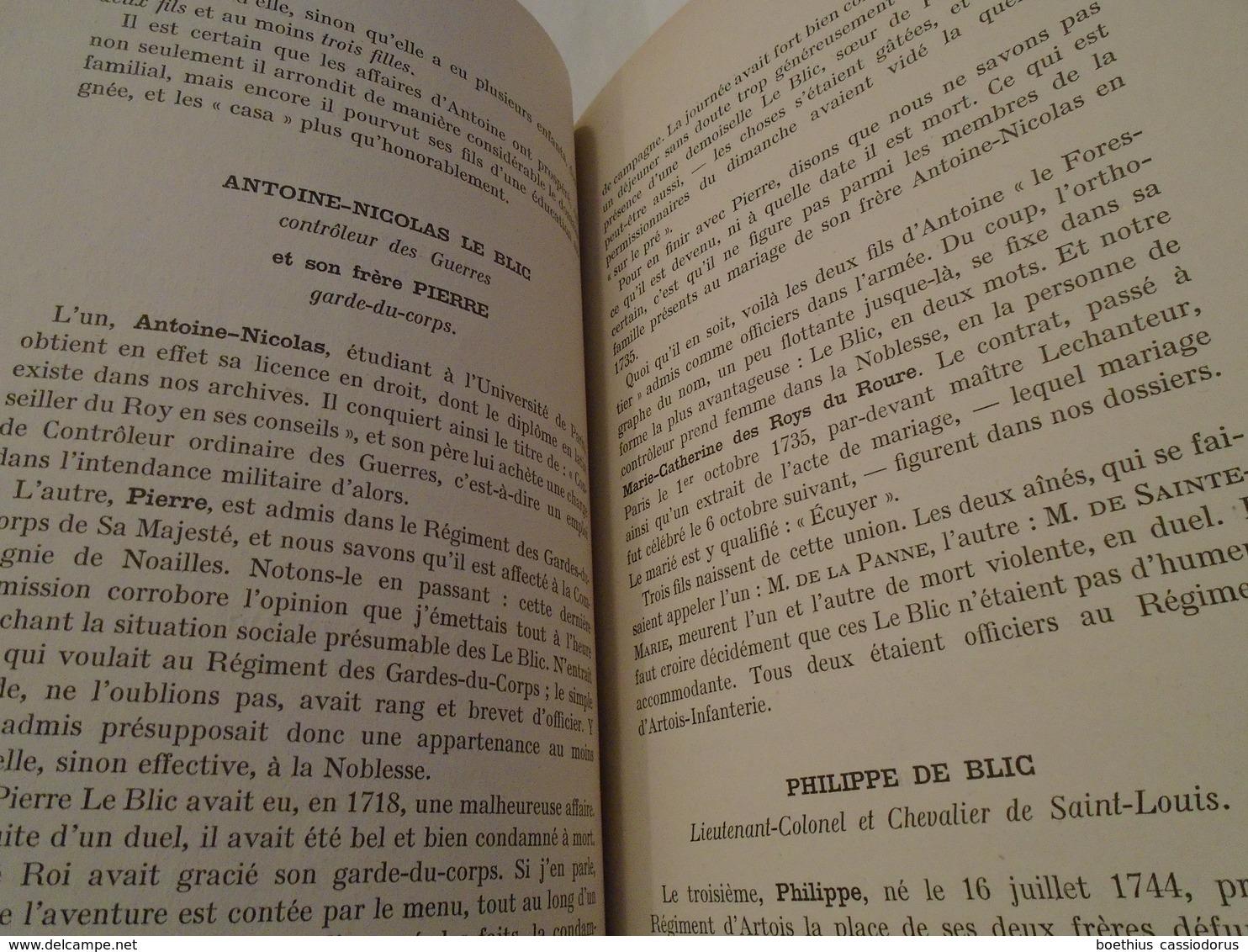 ESSAI D'UNE MONOGRAPHIE DE LA FAMILLE DE BLIC D'APRES LES ARCHIVES DU CHÂTEAU D'ECHALOT  1948  EMMANUEL DE BLIC - Bourgogne