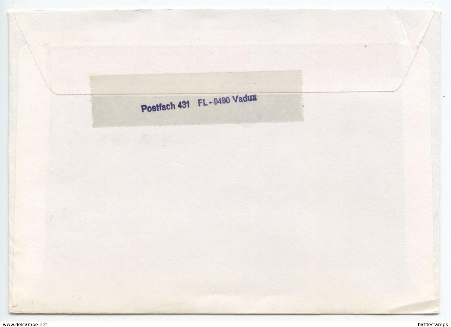 Liechtenstein 1991 Registered Airmail Cover Vaduz To Forchheim Germany, Scott 799 Princess Marie Aglae - Liechtenstein