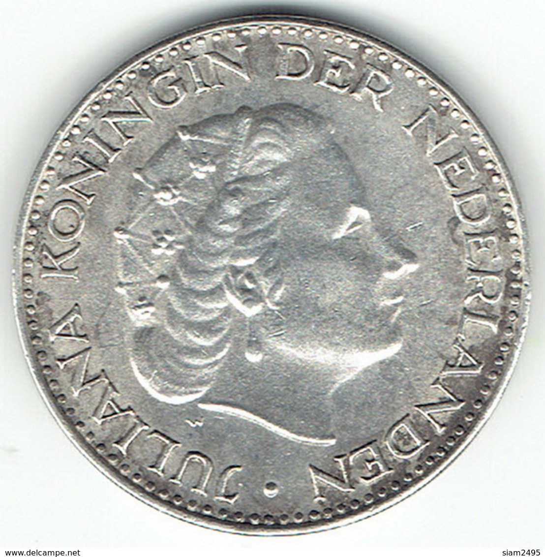The Netherlands 1967, 1 Gulden, Silver - 1948-1980 : Juliana