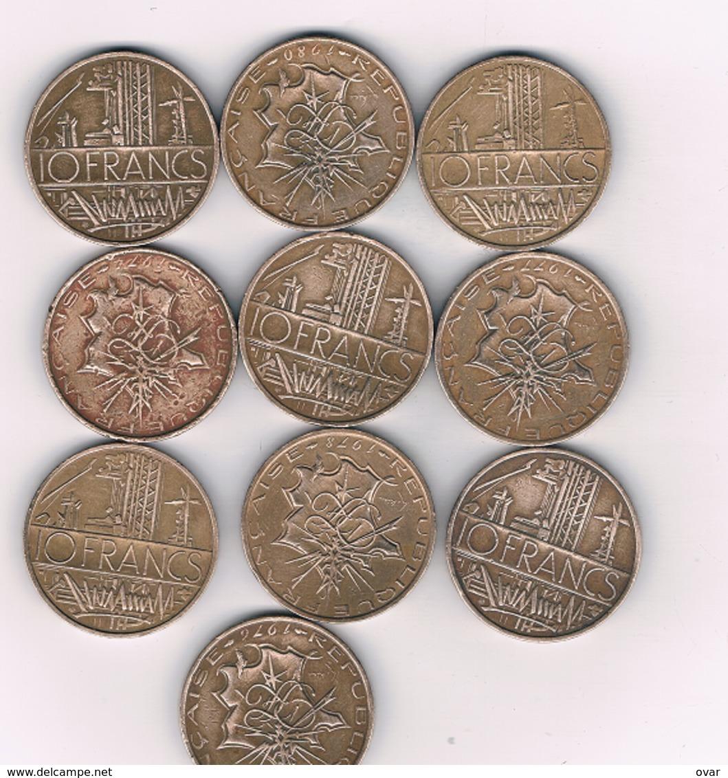 10 FRANCS 10 X FRANRIJK /4924/ - K. 10 Francs