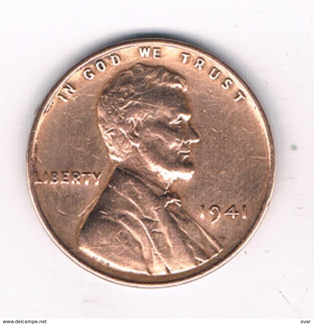 ONE CENT   1941  USA /4929/ - Émissions Fédérales