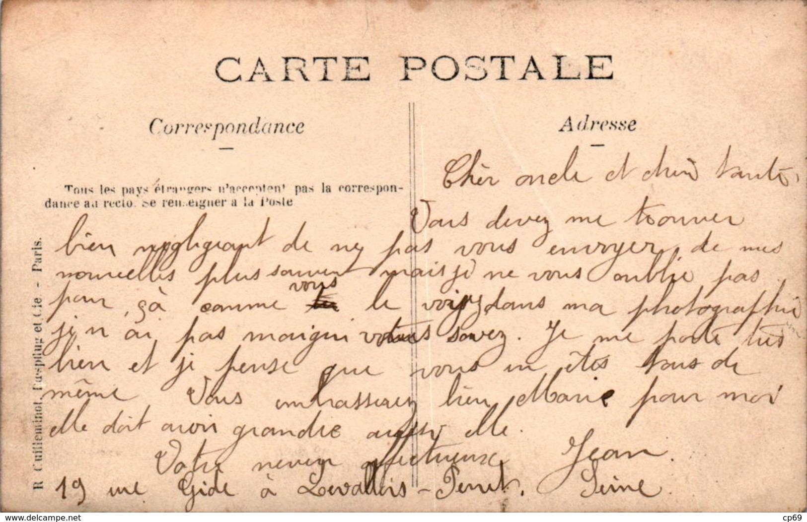 Carte Photo Levallois-Perret A. De Lassus Devanture Frontage Boucherie Butchery Carcasse De Viande Hauts-de-Seine - Levallois Perret