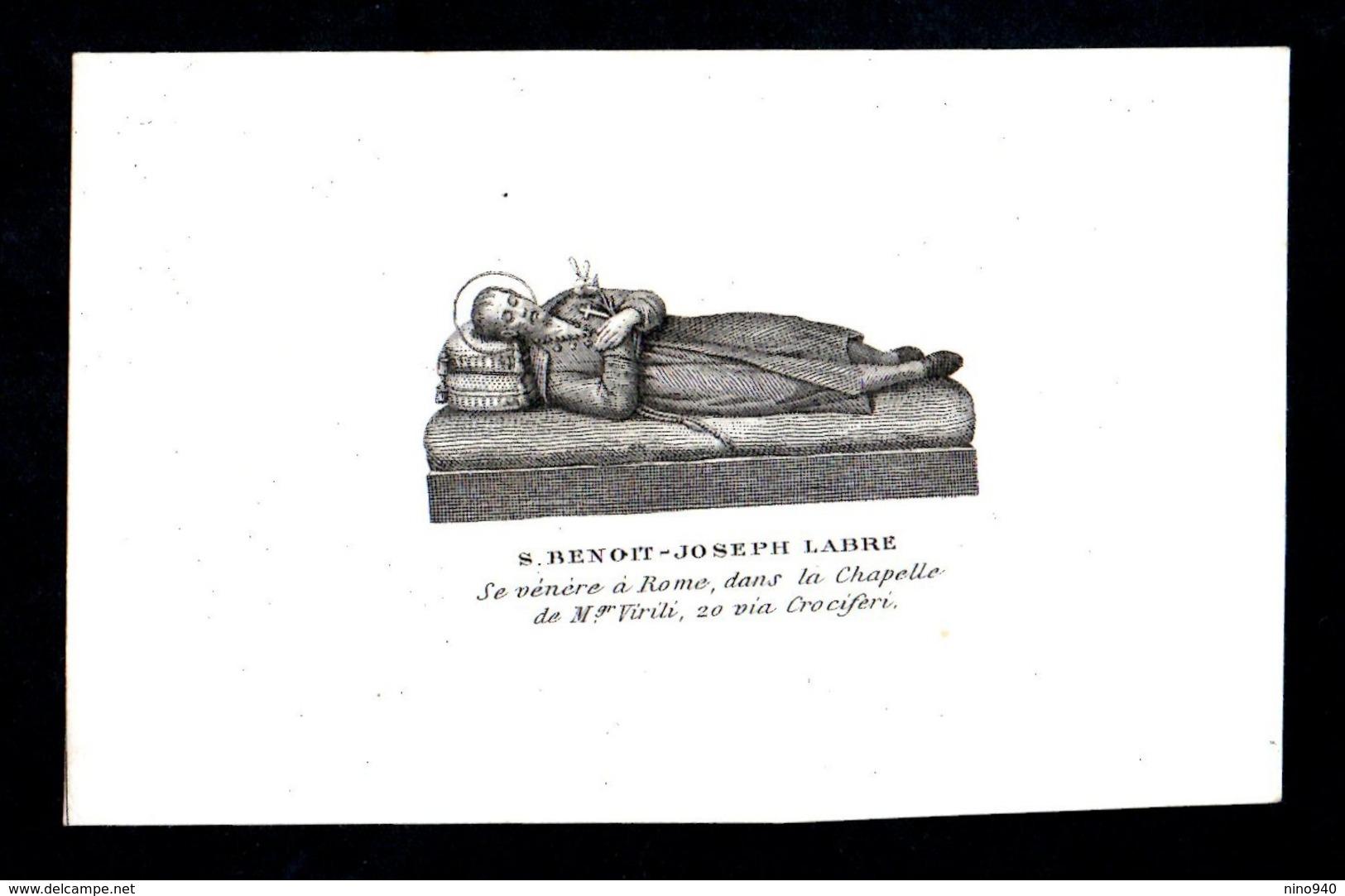 Incisione: S. BENEDETTO-GIUSEPPE LABRE - Roma - XIX Sec. - RI-INC001 - Religion & Esotérisme