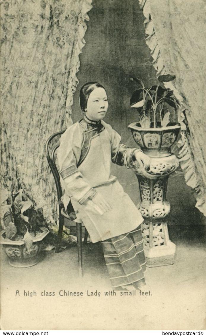 China, High Class Chinese Lady Small Bound Feet (1910s) Postcard - China (Hong Kong)