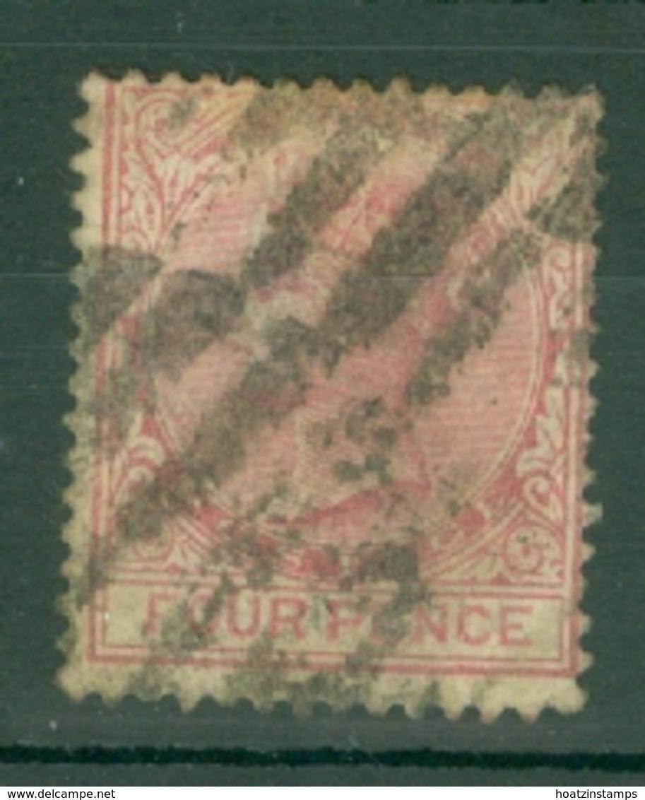 Nigeria - Lagos: 1876/79   QV    SG14    4d   Carmine  [Perf: 14]   Used - Nigeria (...-1960)