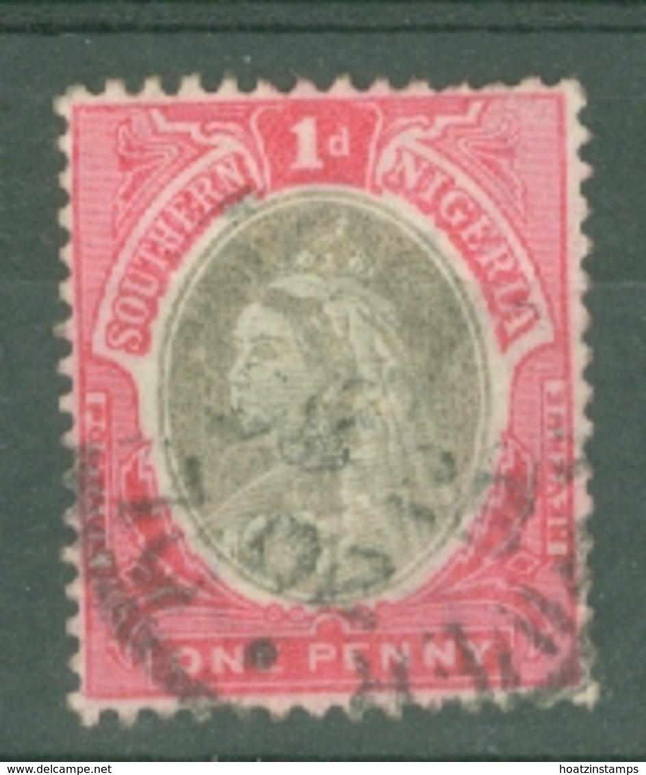 Southern Nigeria: 1901/02   QV    SG2a    1d  Sepia & Carmine   Used - Nigeria (...-1960)