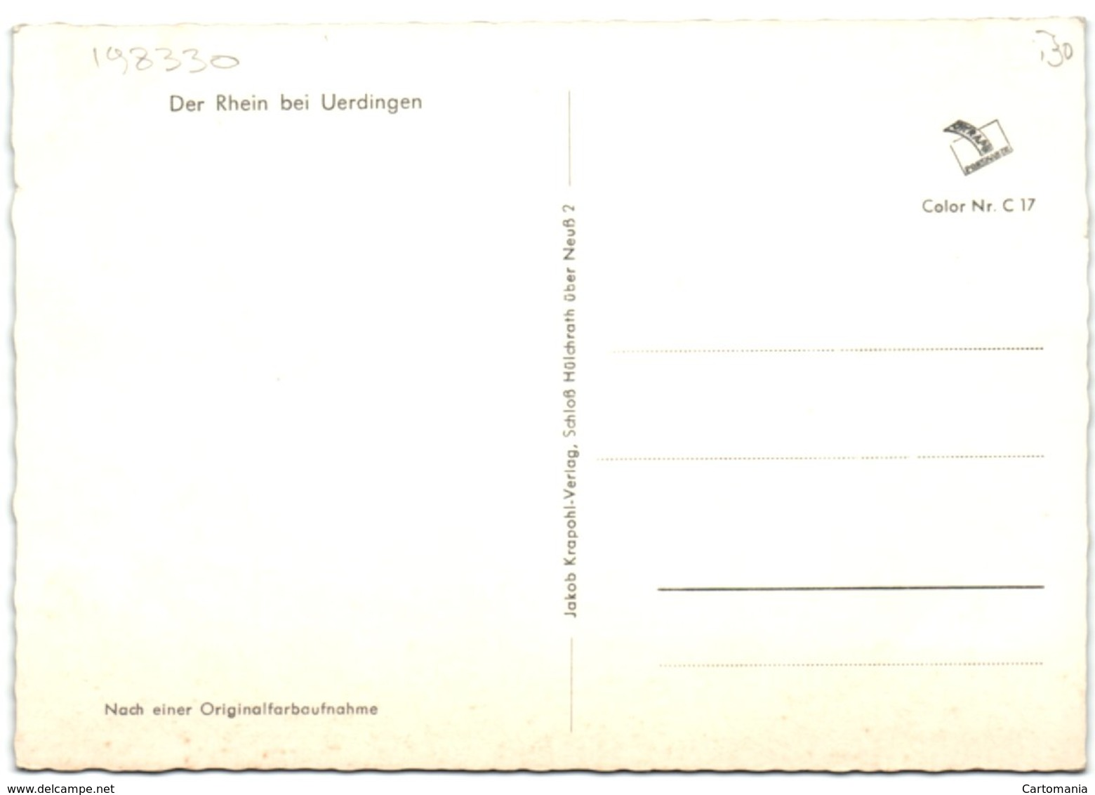 Der Rhein Bei Uerdingen - Krefeld