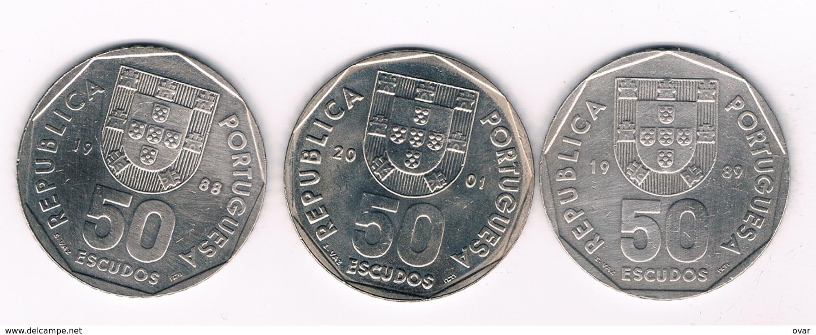 50 ESCUDOS 3X PORTUGAL 4952/ - Portugal