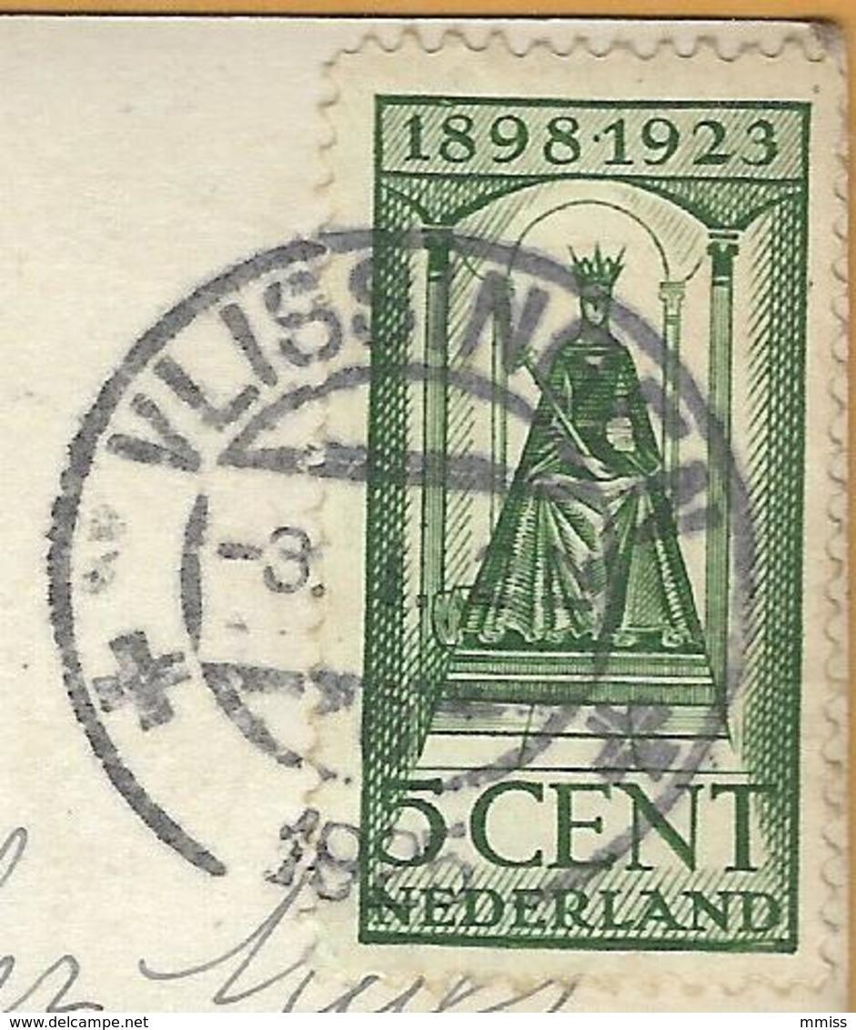 PRv-739: N° 122: VLISSINGEN  1925 : Op Fantasiekaartje: Dame > Puers  B - 1891-1948 (Wilhelmine)
