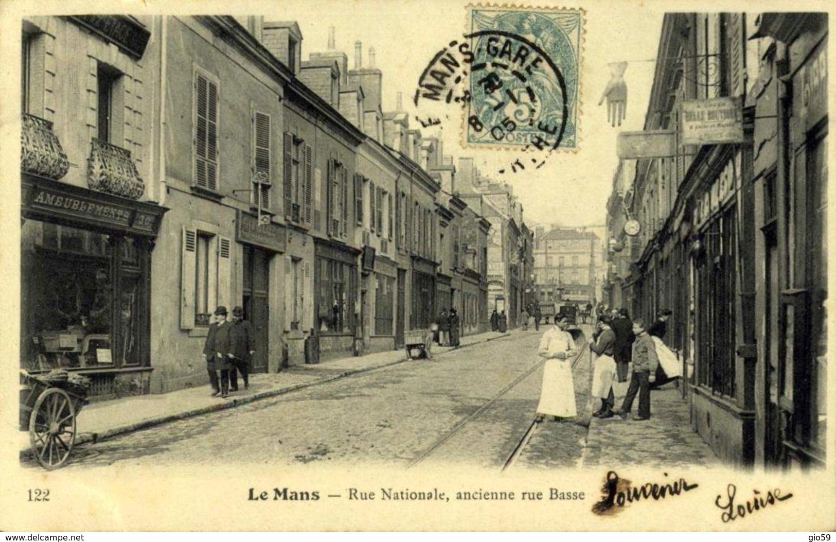72 LE MANS - Rue Nationale , Ancienne Rue Basse / A 472 - Le Mans