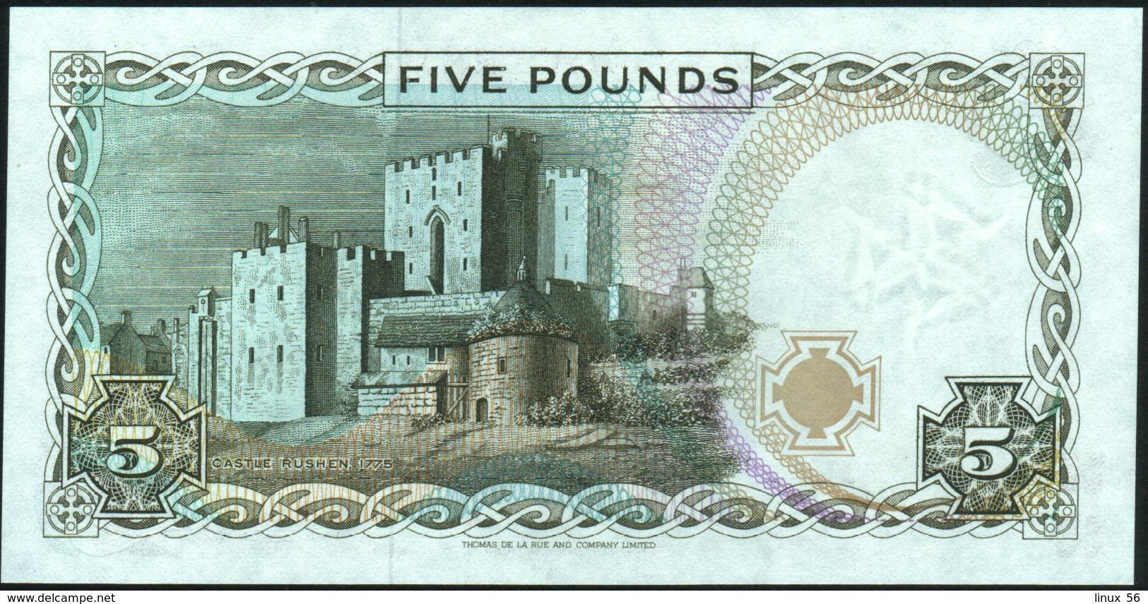ISLE OF MAN - 5 Pounds Nd.(1990-1991) {sign. Cashen 1991} UNC P.41 B - [ 4] Isle Of Man / Channel Island