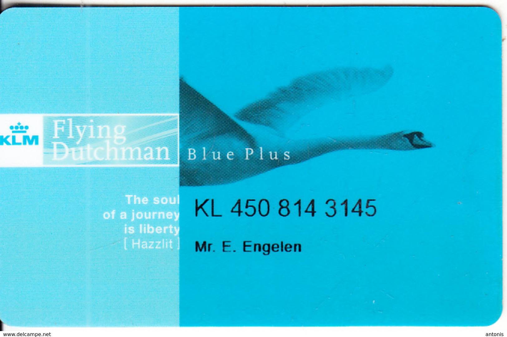 USA - KLM Blue Plus, Magnetic Member Card, Used - Vliegtuigen