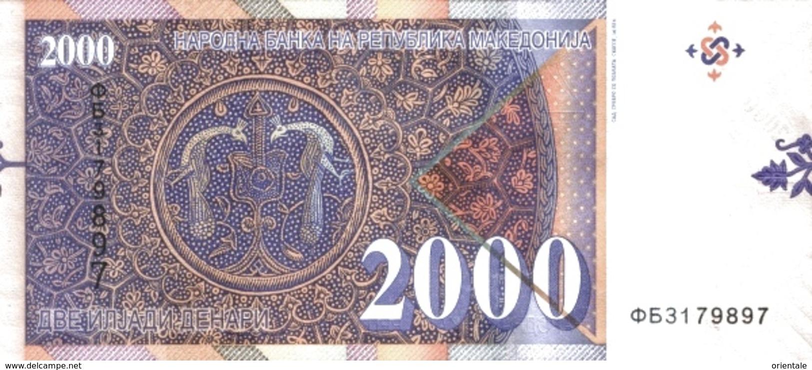 MACEDONIA P. 24 2000 D 2016 UNC - Macedonia