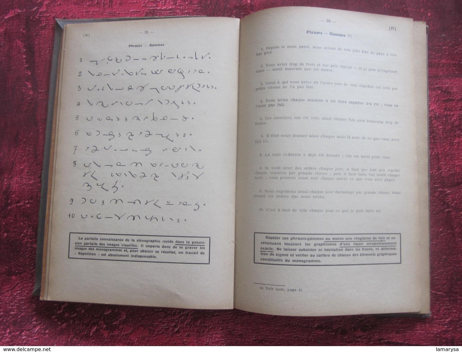 Exercices Gradués De Sténographie, Système Duployé Par Charles Chouvé 1941-Graduated Stenography Exercises,Duployé Syste - Livres, BD, Revues