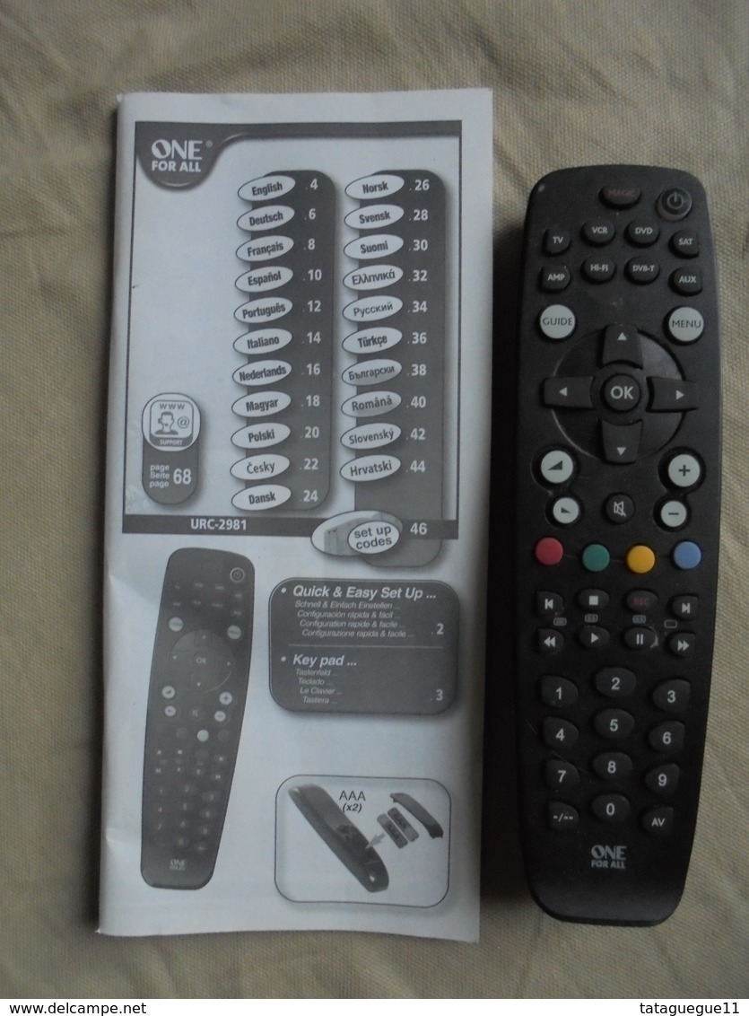 Télécommande Universelle - Technical