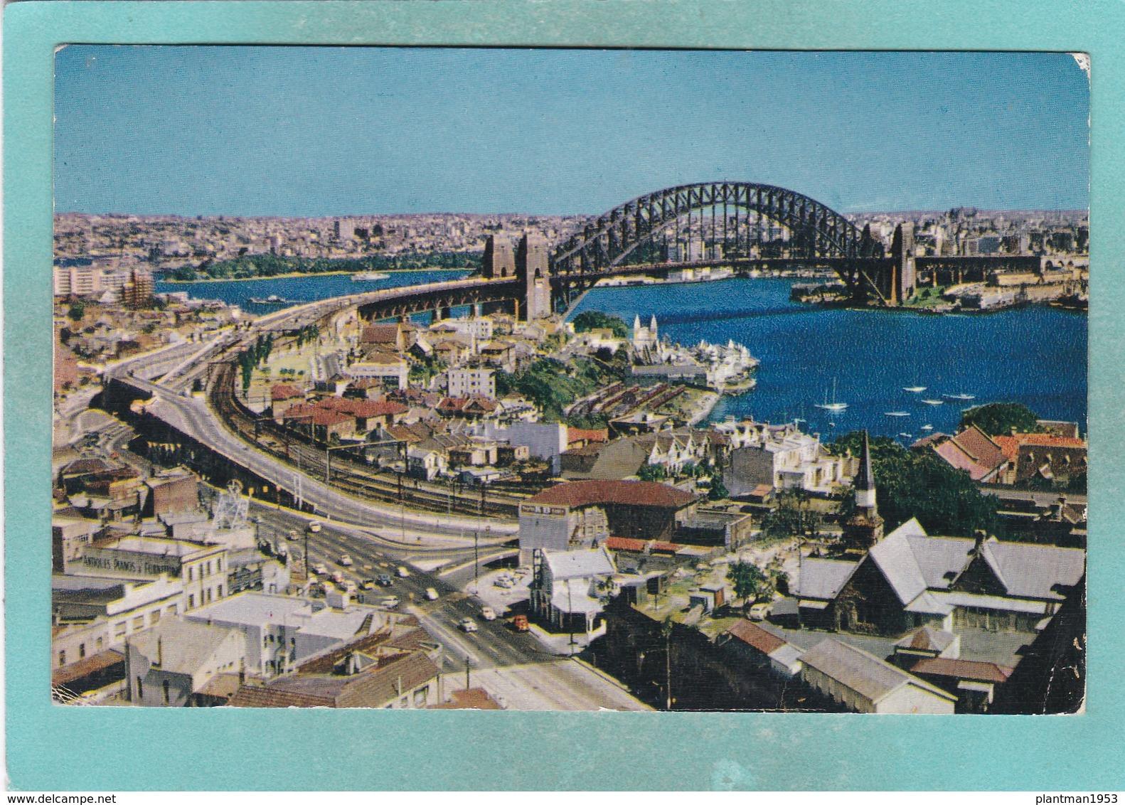 Small Post Card Of Harbour Bridge,Sydney,New South Wales, Australia.,V103. - Sydney