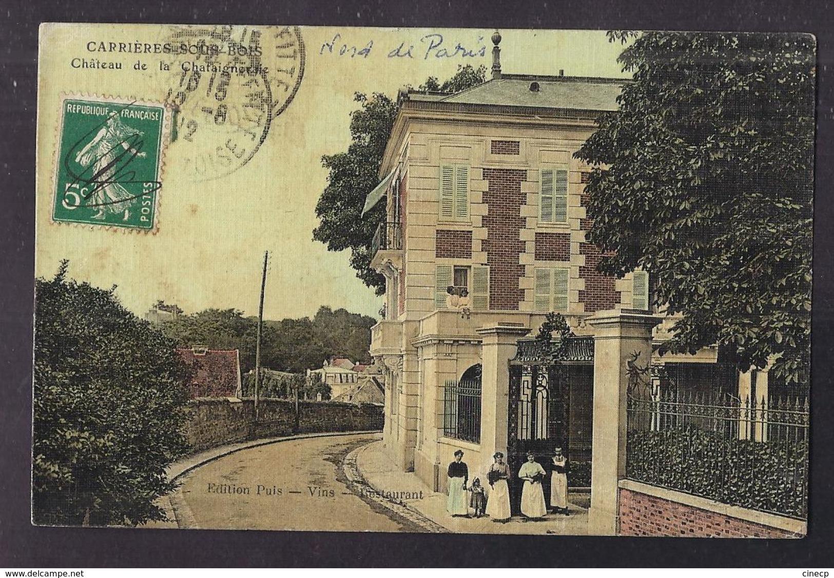 CPA 78 - CARRIERES-SOUS-BOIS - Carrières-sous-Bois - Château De La Chataigneriae - TB EDIFICE + Jolie ANIMATION Entrée - Frankreich